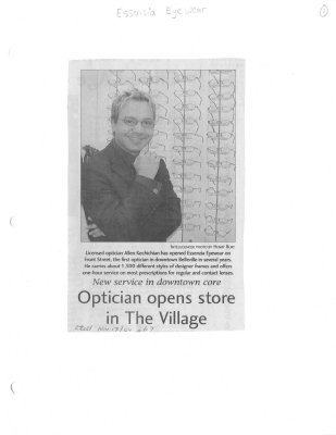 Optician opens store in The Village: Essenzia Eyewear