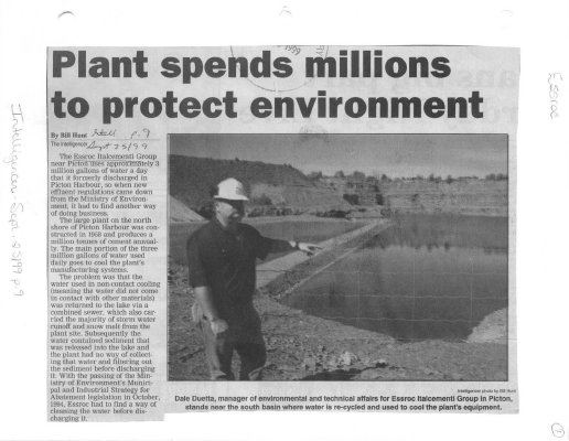 Plant spends millions to protect environment: Essroc