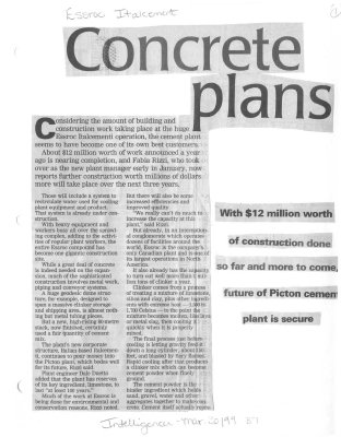 Concrete plans: Essroc Italcement