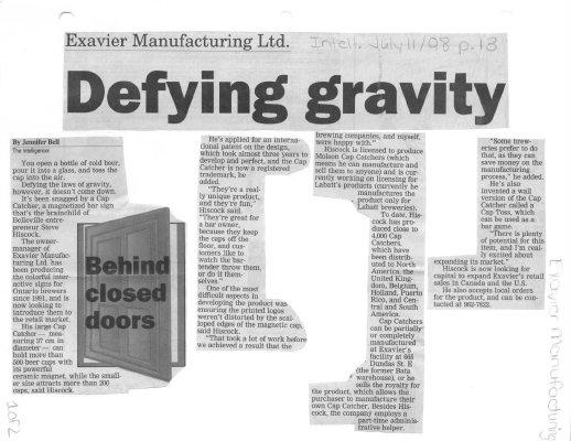 Defying gravity: Exavier Manufacturing