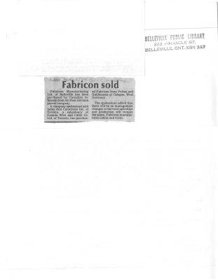 Fabricon sold