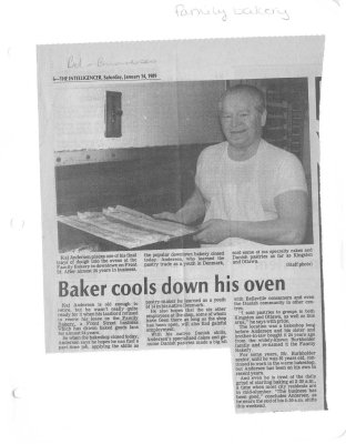 Baker cools down his over: Family Bakery