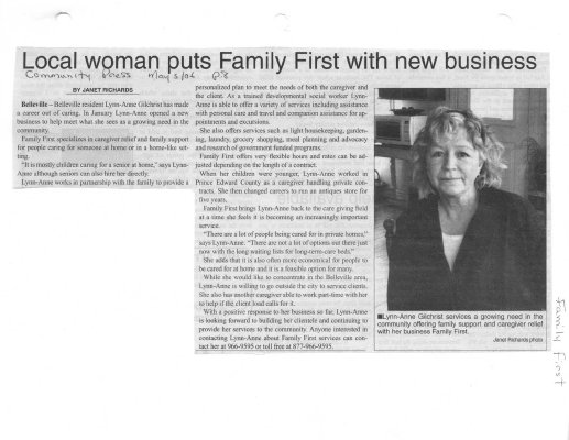 Local woman puts Family First with new business