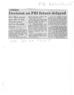 Decision on FBI future delayed
