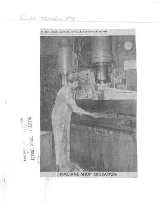 Machine Shop Operation: Finkle Machine Ltd