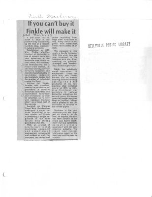 If you can't buy it Finkle will make it:Finkle Machinery Ltd;