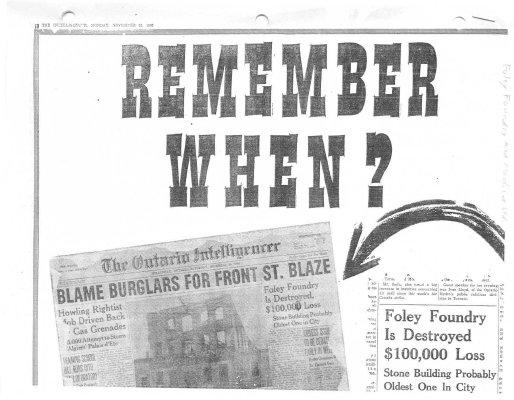 Remember When: Blame burglars for Front St. blaze
