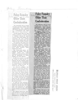Foley Foundry older than Confederation