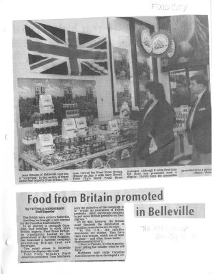 Food from Britain promoted in Belleville : Food City