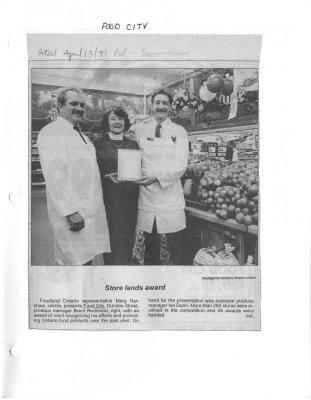Store lands award : Food City