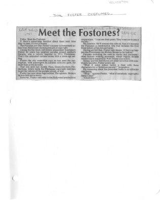 Meet the Fostones? : Foster Costumes