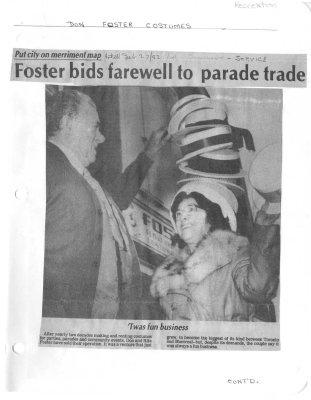 Foster bids farewell to parade trade
