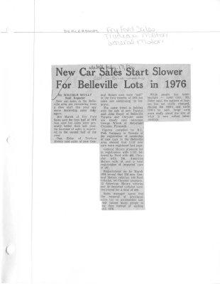 New car sales start slower for Belleville lots in 1976