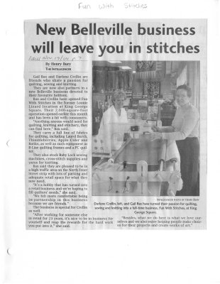 New Belleville business will leave you in stitches: Fun with Stitches