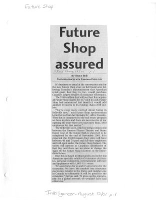 Future Shop assured