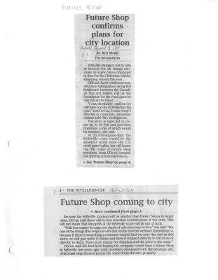 Future Shop confirms plans for city location