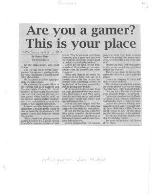 Are you a gamer? This is your place: Gamers