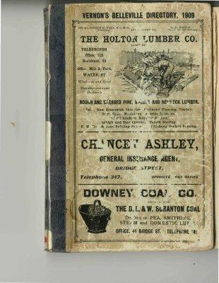 Vernon's Belleville Directory, 1909