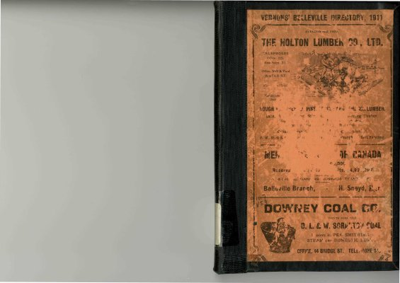 Vernon's City of Belleville Directory 1911