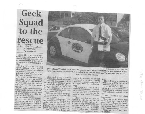 Geek Squad to the rescue