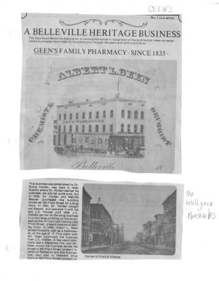 A Belleville heritage business: Geen's Family Pharmacy - since 1835