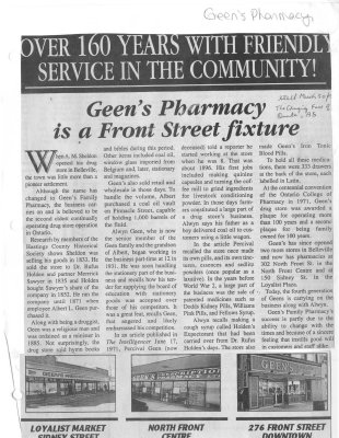 Geen's Pharmacy is a Front Street fixture