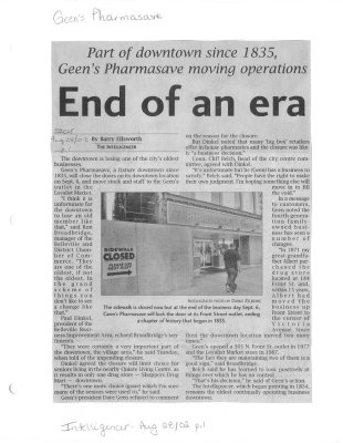 End of an era: Geen's Pharmasave