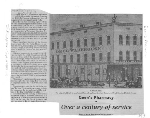 Geen's Pharmacy: Over a century of service