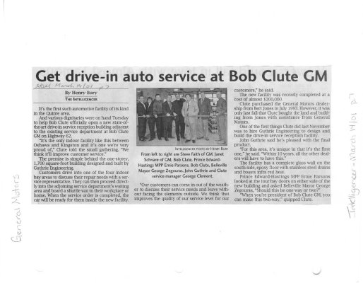 Get drive-in auto service at Bob Clute GM