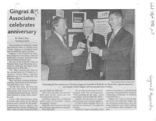 Gingras & Associates Celebrates Anniversary