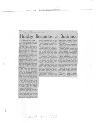 Hobby Becomes A Business