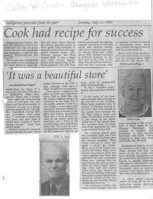 Cook Had Recipe For Success