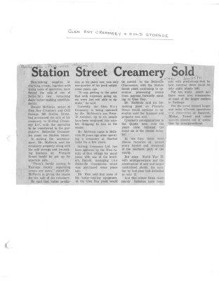 Glen Roy Creamery Time Capsule