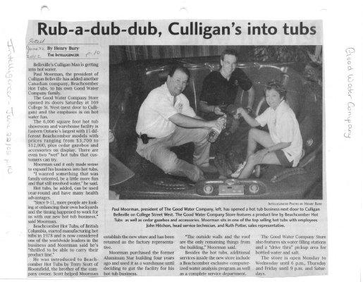 Rub-a-Dub-Dub, Culligan's Into Tubs
