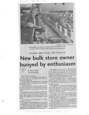 New Bulk Store Owner Buoyed by Enthusiasm