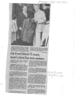 On Front Street 75 Years, Men's Store Has New Owners