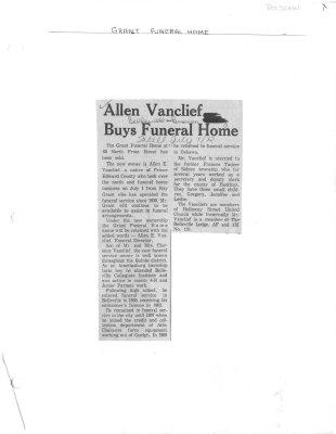 Allen Vanclief Buys Funeral Home