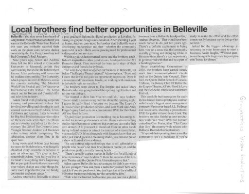 Local Brothers Find Better Opportunities in Belleville