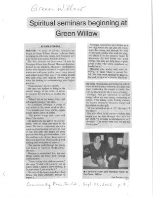 Spiritual Seminars Beginning at Green Willow