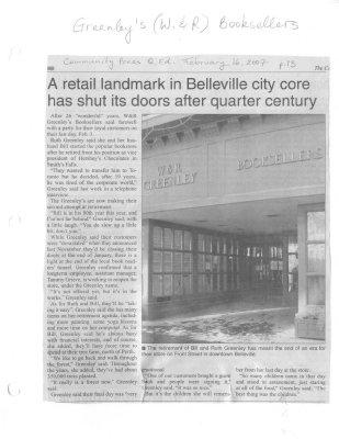 A Retail Landmark in Belleville City Core Has Shut its Doors After Quarter Century
