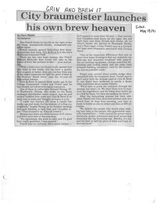 City Braumeister Launches His Own Brew Heaven