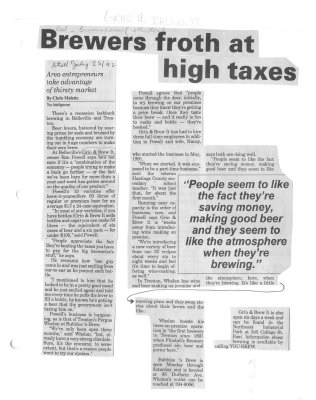 Brewers Froth at High Taxes