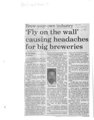 Brew-Your-Own Industry: 'Fly on the wall' Causing Headaches For Big Breweries