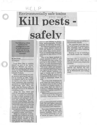 Kill pests - safely  H.E.L.P.