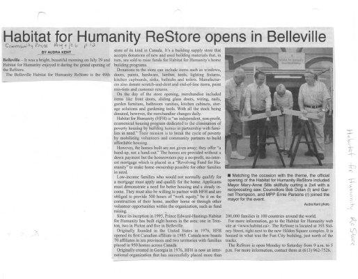 Habitat for Humanity ReStore opens in Belleville