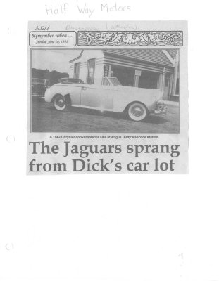 Remember when: The Jaguars sprang from Dick's car lot
