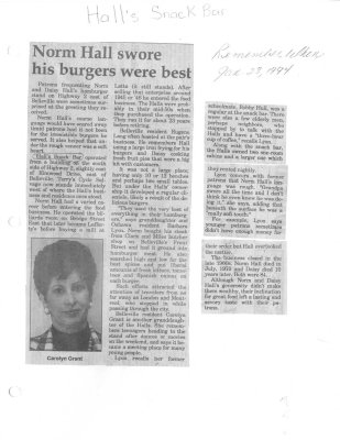 Remember when: Norm Hall swore his burgers were best