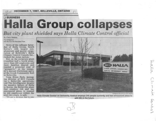 Halla Group collapses