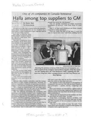 Halla among top supplier to GM