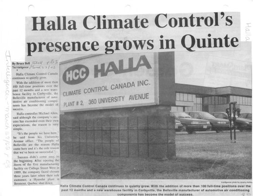 Halla charging ahead to develop plant by 2003